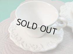 画像1: COTE TABLE  トリアノン ホワイト ティーカップ&ソーサー