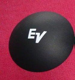 画像1: 外径105.5ミリ 紙製 EV 用 ロゴ入りダストキャップ ペア  DCP4124LW