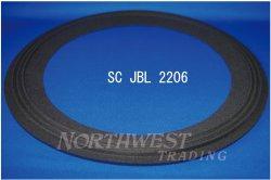 """画像1: スピーカーエッジ """"SC2206"""" JBL2206用 クロスエッジ ペア(2枚)"""